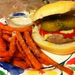 Turkey Burgers and Sweet Potato Fries