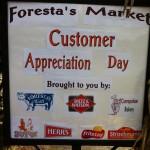 Customer Appreciation Sign